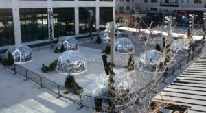 Dine Inside Your Very Own Heated Igloo At The Capitol District In Nebraska