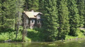 The Johnny Sack Cabin Is A Beautiful Landmark Located At Big Springs In Island Park, Idaho