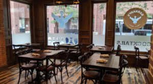 Double Decker Burgers And Disco Fries Await You At Barnaby's Public House In Rhode Island