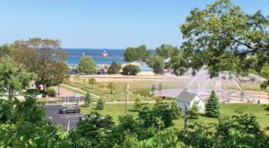 Stroll Along A Waterfront Overlook When You Explore Lake Bluff Park In Michigan