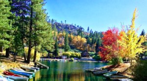 The Enchanting Lake In Southern California, Green Valley Lake, That Comes Alive With Color During The Fall Season