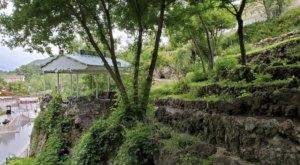 Stroll Through The Most Unique Little Garden In Idaho At The Lava Hot Springs Sunken Gardens