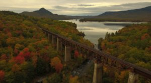 Maine's Tallest And Longest Train Trestle Offers Some Of The Most Astounding Views In The State