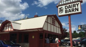 Enjoy Some Of The Best Ice Cream Treats In The State At The Dairy Barn, A Small Town Eatery In Tennessee