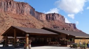 Dine Under Massive Red-Rock Cliffs At Cowboy Grill In Utah