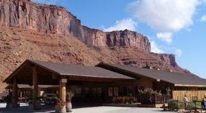 Dine Under Massive Red-Rock Cliffs At Cowboy Grill In Utah