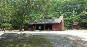 You'll Have A Front Row View Of Burlingame State Park, Rhode Island In These Cozy Cabins