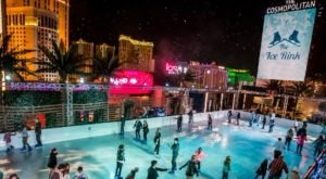 Visit The 4,200-Square-Foot Rooftop Ice Rink In Nevada Where You Can Skate Then Warm Up By The Fire
