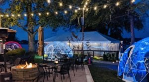 Hang Out In A Riverside Igloo At Captain's Quarters Riverside Grille In Kentucky