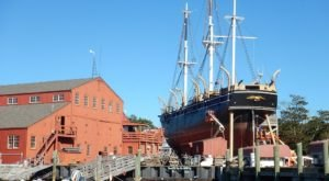 Climb Aboard The World's Last Remaining Wooden Whaling Ship At The Mystic Seaport Museum In Connecticut