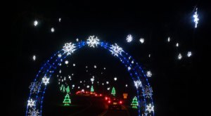Drive Through 1,100 Acres Dotted With One Million Lights At Tanglewood Park Festival Of Lights In North Carolina