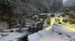 A Trip To Paupack Falls When Pennsylvania Has Frozen Over Is Positively Surreal