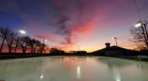 There's Nothing More Special Than An Evening On This Outdoor Ice Skating Rink In Missouri