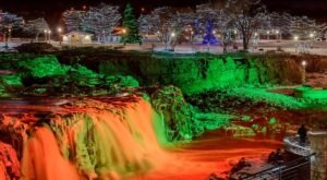 Even The Grinch Would Marvel At The Winter Wonderland At Falls Park In South Dakota