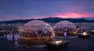 Dine Inside A Private Igloo With Your Very Own Firepit At Whispers In Idaho