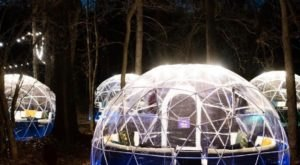 Sip And Snuggle Inside Your Very Own Snow Globe At Arkansas' North Forest