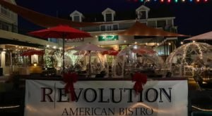 Savor Holiday Cocktails From Inside An Igloo At Revolution American Bistro In Rhode Island