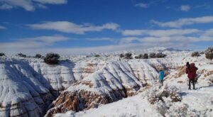 Nevada's Cathedral Gorge State Park Looks Even More Spectacular In the Winter