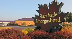 When COVID Ends, You'll Want To Check Out The All-You-Can-Eat Dessert Buffet In Pennsylvania, Shady Maple Smorgasbord