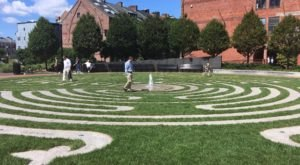 Walk A Calming Outdoor Labyrinth At The Armenian Heritage Park In Massachusetts