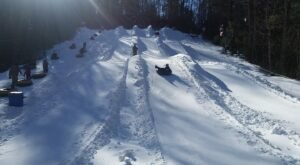 Tackle The State's Steepest Snow Tubing Hill At Moonshine Mountain In North Carolina This Year
