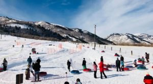 Tackle A Zig-Zag Snow Tubing Hill At Wasatch Parc Snow Tubing In Utah This Year