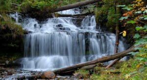 The Hike To Michigan's Pretty Little Wagner Falls Lookout Is Short And Sweet