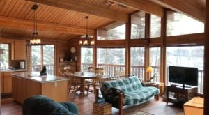Cozy Up By The Wood Burning Fireplace In This Log Cabin On A Historic Alaskan Property