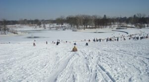 You'll Feel Like A Kid Again When You Sled Down One Of Missouri's Best Winter Spots, Art Hill at Forest Park