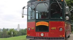 Climb Aboard A Vintage Trolley For The Magical Jolly Trolley Sightseeing Tour In Pittsburgh