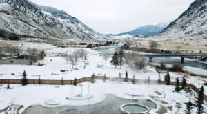 Montana's Most Magical Natural Springs, Yellowstone Hot Springs, Is Magical In The Winter