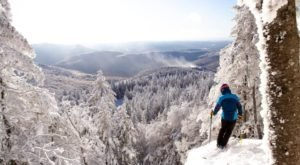 This Winter Snowshoe Hike Leads You To Magical Views Of Vermont's Winter Wonderland