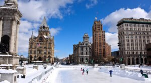 Ice Skating At Clinton Square In New York Will Make Your Winter Merry And Bright