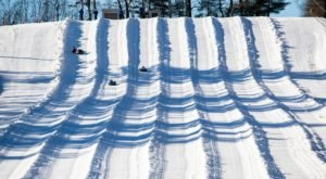 Tackle An 18-Lane Snow Tubing Hill At Nashoba Valley Ski Area In Massachusetts This Year