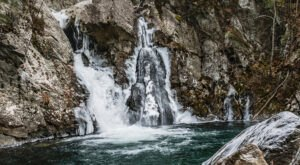A Trip To Bash Bish Falls When Massachusetts Has Frozen Over Is Positively Surreal