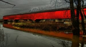 The Longest Covered Bridge In Indiana, Medora Covered Bridge, Is 434 Feet Long