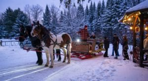 See The Charming Town Of Lake Clear In New York Like Never Before On This Delightful Sleigh Ride