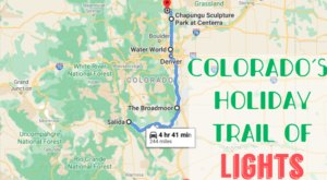 Everyone Should Take This Spectacular Holiday Trail Of Lights In Colorado This Season