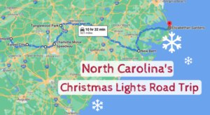The Christmas Lights Road Trip Through North Carolina That's Nothing Short Of Magical