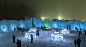Seeing The Massive Ice Sculptures In The Small Town Of North Woodstock, New Hampshire Will Be Your Favorite Winter Memory