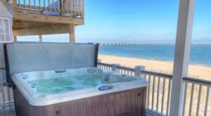 Enjoy Ocean Views From The Hot Tub When You Stay At This Dreamy Virginia Beach Airbnb