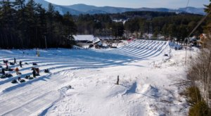You'll Feel Like A Kid Again When You Tube Down One Of New Hampshire's Best Winter Spots, Cranmore Mountain
