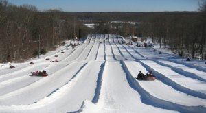 Tackle A 7-Lane Snow Tubing Hill At Yawgoo Valley Ski Area In Rhode Island This Year