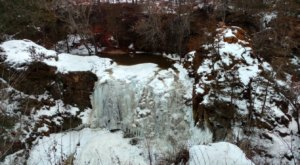 The 33-Foot Frozen Waterfall At Ramsey Park Is One Of Minnesota's Hidden Winter Attractions