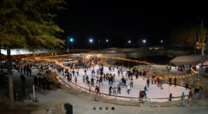 There's Nothing More Special Than An Evening On This Ice Skating Rink In North Carolina