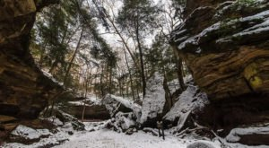 Indiana's Grand Canyon Of The Midwest Looks Even More Spectacular In the Winter