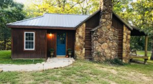 Disconnect From Tech And Reconnect With Nature At The Blue Door Cabin In Kansas