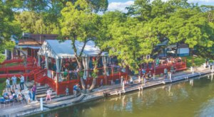 The Waterfront Views From County Line On The Lake In Texas Are As Praiseworthy As The Food