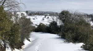 The Middle Peak Loop Trail In Southern California That Is A Winter Wonderland This Time Of Year