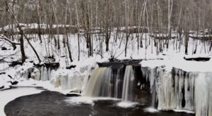 Take A Snowy Hike To A Hidden Waterfall At Minnesota's Banning State Park This Winter